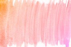 Πορτοκαλί και ρόδινο υπόβαθρο watercolor χεριών οικολογίας, απεικόνιση ράστερ διανυσματική απεικόνιση