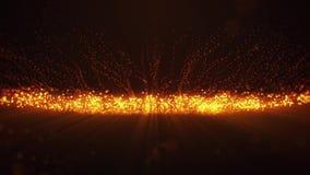Πορτοκαλί καμμένος υπόβαθρο v2 κινήσεων βρόχων μορίων VJ σημείων διανυσματική απεικόνιση