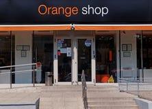 Πορτοκαλί κατάστημα σε Galati, Ρουμανία Στοκ Εικόνα