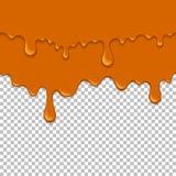Πορτοκαλί κολλώδες υγρό άνευ ραφής στοιχείο ελεύθερη απεικόνιση δικαιώματος