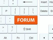 Πορτοκαλί κουμπί πληκτρολογίων φόρουμ ελεύθερη απεικόνιση δικαιώματος