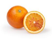 πορτοκαλί λευκό ανασκόπησης Στοκ Εικόνα