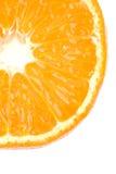 πορτοκαλί λευκό τμήματο&sig Στοκ Εικόνα