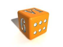 πορτοκαλί παιχνίδι κόκκαλων Στοκ Εικόνες