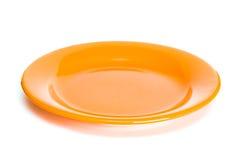 πορτοκαλί πιάτο Στοκ Φωτογραφίες