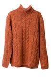 πορτοκαλί πουλόβερ στοκ εικόνες