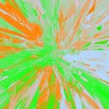 Πορτοκαλί πράσινο mandala άνοιξη, έκρηξη επίδρασης δυσλειτουργίας Στοκ εικόνα με δικαίωμα ελεύθερης χρήσης