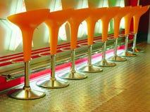 πορτοκαλί σκαμνί Στοκ Φωτογραφίες