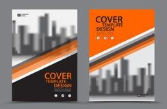 Πορτοκαλί σχεδιάγραμμα σχεδίου κάλυψης, εκτύπωση Στοκ Εικόνες
