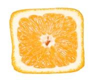 πορτοκαλί τετράγωνο κινηματογραφήσεων σε πρώτο πλάνο Στοκ Εικόνα