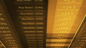 Πορτοκαλί τηλέτυπο Γουώλ Στρητ χρηματιστηρίου Cinematic - V1 απόθεμα βίντεο