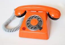 πορτοκαλί τηλέφωνο Στοκ Φωτογραφίες
