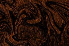 Πορτοκαλί φύλλο αλουμινίου με μια επικάλυψη των απόκοσμων μαύρων μορφών στοκ φωτογραφία