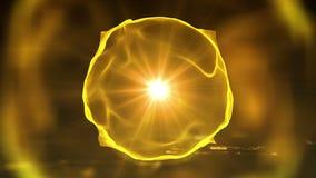 Πορτοκαλί χρώμα ζωτικότητας υποβάθρου κύκλων εισαγωγής Περίληψη κινήσεων της άνευ ραφής περιστροφής μορφής μορίων ελεύθερη απεικόνιση δικαιώματος