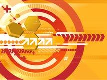 πορτοκαλί techno ανασκόπησης Στοκ εικόνες με δικαίωμα ελεύθερης χρήσης