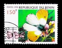 Πορτοκαλιά άκρη (cardamines Anthocharis), πεταλούδα serie, circa 1998 Στοκ φωτογραφία με δικαίωμα ελεύθερης χρήσης