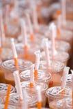 πορτοκαλιά άχυρα Στοκ Φωτογραφίες