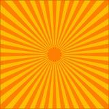 Πορτοκαλιά έκρηξη ακτίνων Στοκ Εικόνες