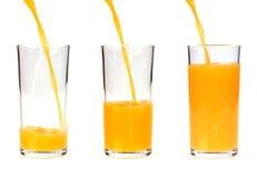 πορτοκαλιά έκχυση χυμού &gam Στοκ φωτογραφία με δικαίωμα ελεύθερης χρήσης