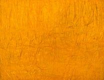 Πορτοκαλιά ή κίτρινη χειροποίητη σύσταση εγγράφου Στοκ Εικόνες