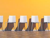 Πορτοκαλιά αίθουσα αναμονής - τρισδιάστατη δώστε Στοκ εικόνα με δικαίωμα ελεύθερης χρήσης