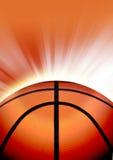 Πορτοκαλιά αθλητική ανασκόπηση καλαθοσφαίρισης Στοκ Εικόνες