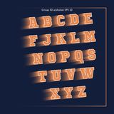 Πορτοκαλιά αθλητική ομάδα αλφάβητου Στοκ Φωτογραφία
