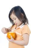 πορτοκαλιά αποφλοίωση Στοκ Φωτογραφίες