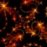 πορτοκαλιά αστέρια ανασ&kap Στοκ Εικόνες