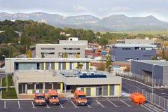 Πορτοκαλιά αυτοκίνητα υπηρεσιών Στοκ Εικόνες