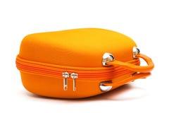 πορτοκαλιά βαλίτσα Στοκ Εικόνες