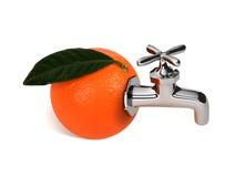 πορτοκαλιά βρύση Στοκ φωτογραφία με δικαίωμα ελεύθερης χρήσης
