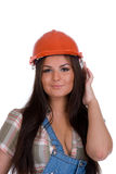 πορτοκαλιά γυναίκα κρανώ& Στοκ Φωτογραφία