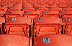 πορτοκαλιά καθίσματα Στοκ Φωτογραφίες