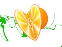 Πορτοκαλιά καρδιά Στοκ φωτογραφία με δικαίωμα ελεύθερης χρήσης