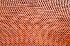 Πορτοκαλιά κεραμίδια στεγών Στοκ Φωτογραφίες