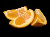 πορτοκαλιά κομμάτια τρία Στοκ Εικόνες