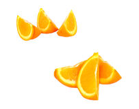 πορτοκαλιά κομμάτια Στοκ εικόνα με δικαίωμα ελεύθερης χρήσης