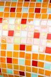 πορτοκαλιά μικρά κεραμίδ&iot Στοκ Εικόνες