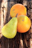 Πορτοκαλιά παρουσίαση αχλαδιών Στοκ Φωτογραφία