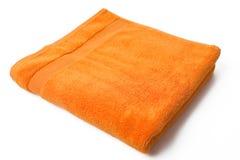 πορτοκαλιά πετσέτα Στοκ φωτογραφία με δικαίωμα ελεύθερης χρήσης