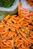 πορτοκαλιά πώληση τσίλι Στοκ Φωτογραφία