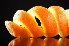 πορτοκαλιά σπείρα φλούδας Στοκ φωτογραφία με δικαίωμα ελεύθερης χρήσης