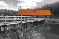 πορτοκαλιά στέγη Στοκ Φωτογραφία