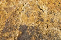 πορτοκαλιά σύσταση πετρών Στοκ Εικόνες