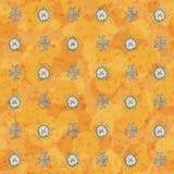 Πορτοκαλιά ταπετσαρία doodle Στοκ Εικόνες