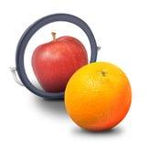 Πορτοκαλιά ταυτότητα επιθυμίας για να είναι η Apple Στοκ Φωτογραφία