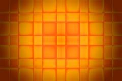 πορτοκαλιά τετραγωνική &sig Στοκ Εικόνα