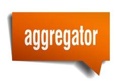 Πορτοκαλιά τρισδιάστατη λεκτική φυσαλίδα Aggregator Ελεύθερη απεικόνιση δικαιώματος