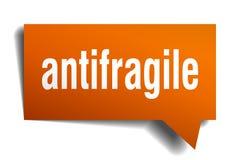 Πορτοκαλιά τρισδιάστατη λεκτική φυσαλίδα Antifragile ελεύθερη απεικόνιση δικαιώματος